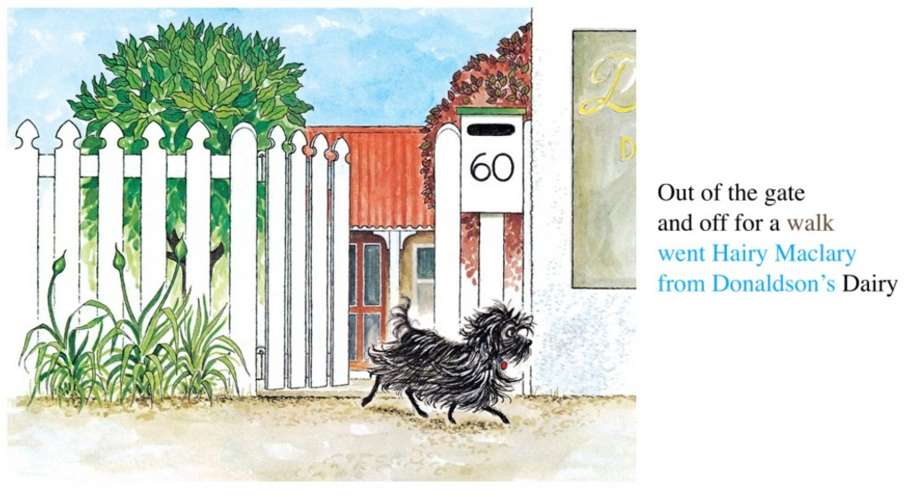 Page from fixed layout ebook - Hairy Maclary by Lynley Dodd
