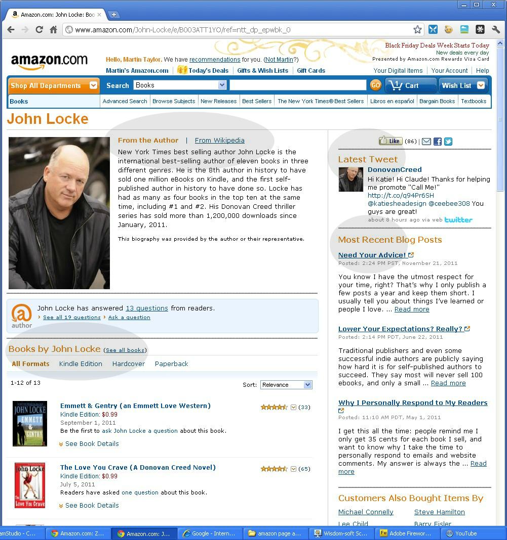Amazon John Locke Page