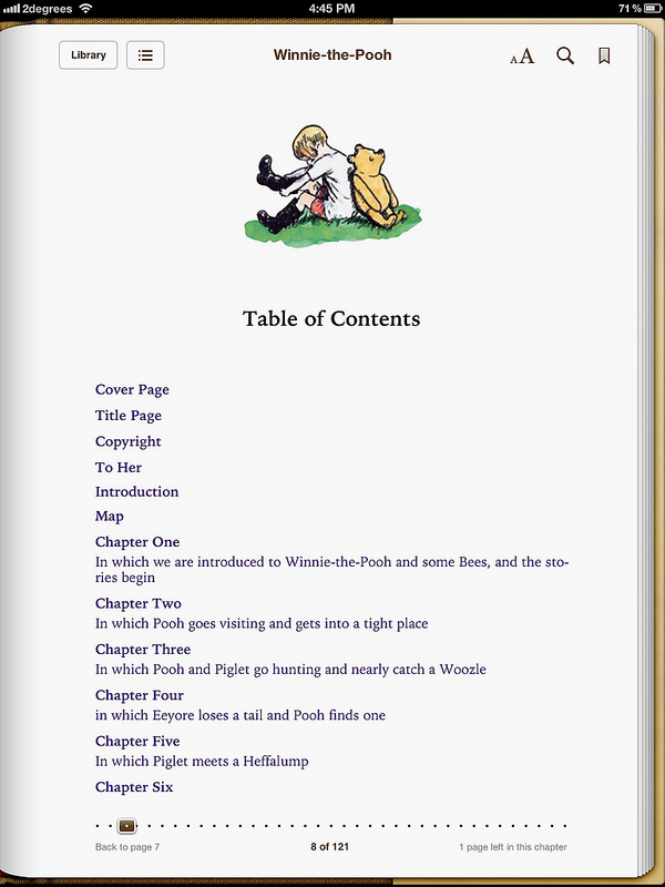 Winnie - Table of Contents