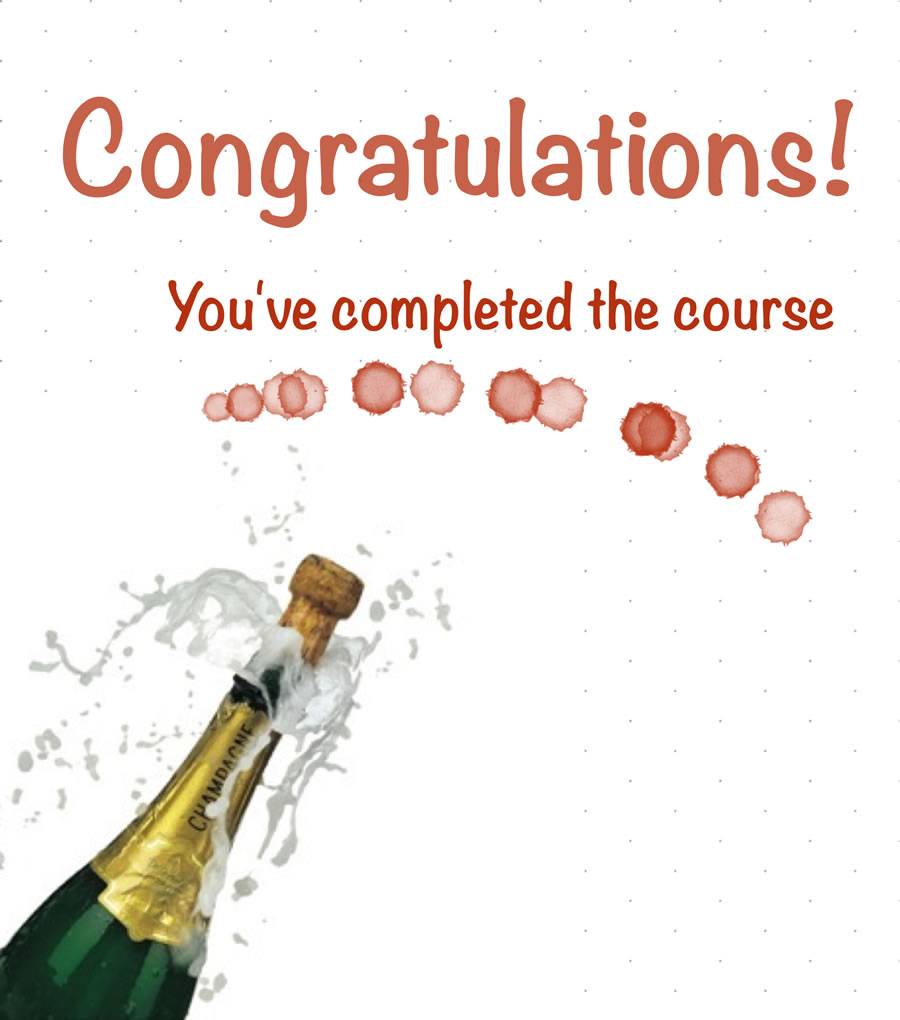 Congratulations! You've completed the course.