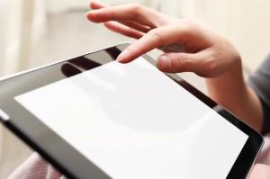 Hand on iPad