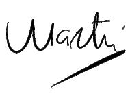 Martin - signature
