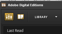 Adobe Digital Editions - library view