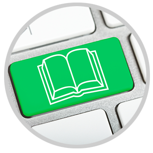 ebook and keyboard icon